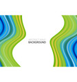 modern colorful wave wave acrylic color background vector image vector image
