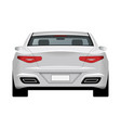 modern generic car rear view vector image