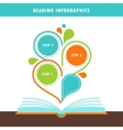 Open Book and Reading Infographics Elements