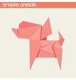 origami isolated animal Cute Dog vector image vector image