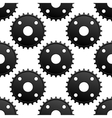 Paatern of black gears with frequent cogs vector image