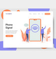 phone signal concept vector image