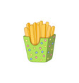 potato fry french fries on paper box vector image vector image