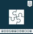 puzzle symbol icon vector image vector image