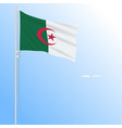 realistic flag of algeria fluttering in the wind vector image vector image