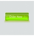 Realistic glass button for web interface vector image vector image