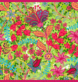 retro flower pattern in many kind florals vector image