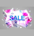 sale facet crystal banner 3d abstract vector image vector image