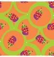 seamless backgrounds with fruits vector image vector image