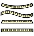 set of keyboards vector image