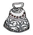 silver wedding bell ship bell church bell ink vector image