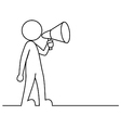 Simple person with megaphone vector image vector image