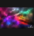space background realistic colorful cosmos vector image vector image