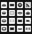sport stadium icons set squares vector image vector image