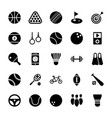 sports glyph icons vector image vector image