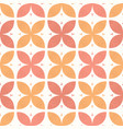stylised abstract orange coral flowers hand drawn vector image