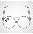 sunglass icon in line style eyewear flat simple vector image
