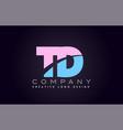 td alphabet letter join joined letter logo design vector image vector image
