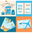 tour of the world tourism with fast travel vector image