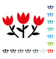 tulip flowers icon vector image