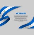waving ribbon with flag vector image vector image