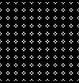 white dot in square shape on black background vector image vector image