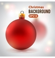 Holiday background with toy ball vector image