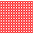 red and white checked tablecloth vector image