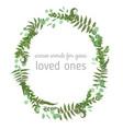3beautiful leafy frame wreath eucalyptus fern vector image vector image