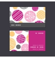 abstract textured bubbles horizontal stripe frame vector image vector image