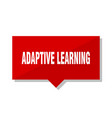 adaptive learning red tag vector image vector image