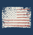 banner with american flag in grunge style vector image