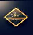 best brand golden label and badge design vector image vector image