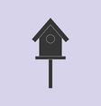 Bird House Icon vector image