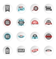 Black Friday icons set vector image vector image