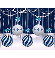 Blue and White Xmas Balls4 vector image vector image