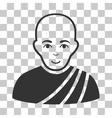 Buddhist Monk Icon vector image vector image