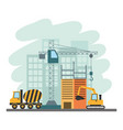 building construction tools vector image