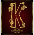 Calligraphic font Letter K vector image vector image
