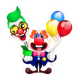 cartoon beautiful clown vector image