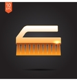 Cleaning brush vector image