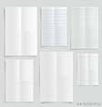 Collection of white papers vector image vector image
