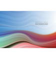 colorful wave background wave liquid shape color vector image vector image
