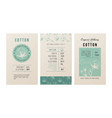 cotton banners in vintage style vector image vector image