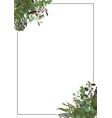 decorative golden rectangular frame vector image vector image