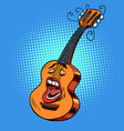 emoji character emotion acoustic guitar musical vector image vector image
