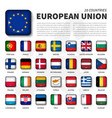 european union eu and membership flag vector image vector image