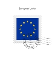 European Union Flag Postage Stamp vector image vector image