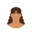 face man with long curly hair vector image vector image