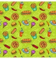 Fast Food Doodle Seamless Pattern vector image vector image
